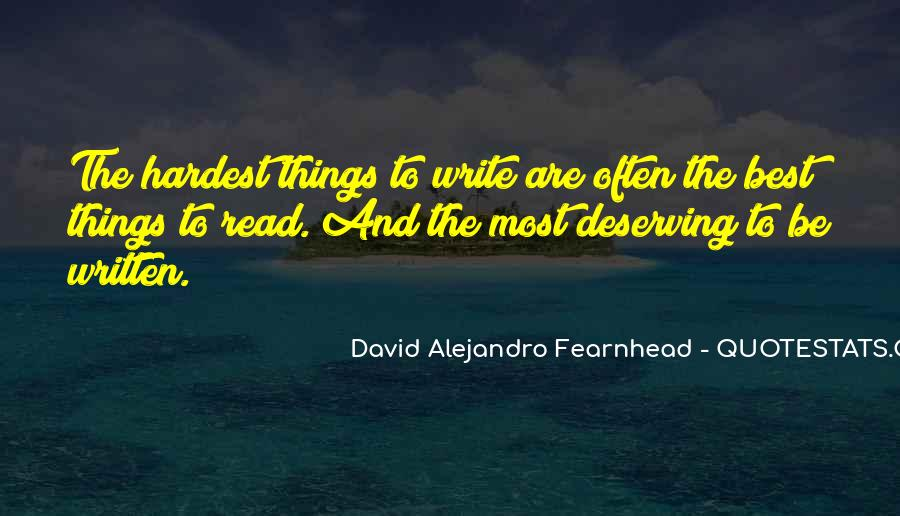David Alejandro Fearnhead Quotes #1632537