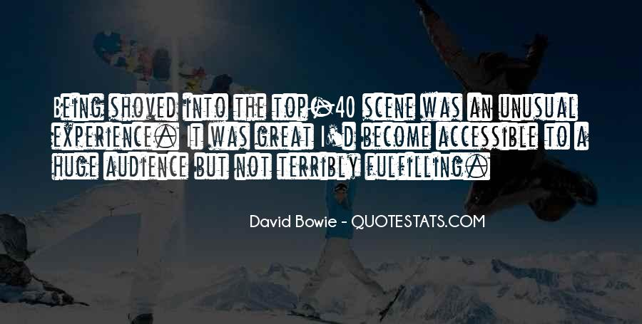 David Bowie Quotes #957343