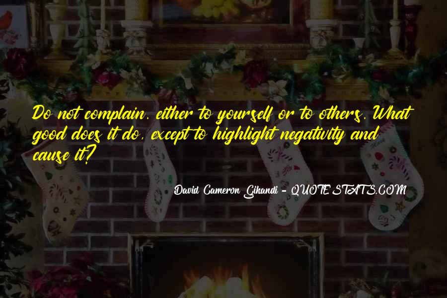 David Cameron Gikandi Quotes #892604