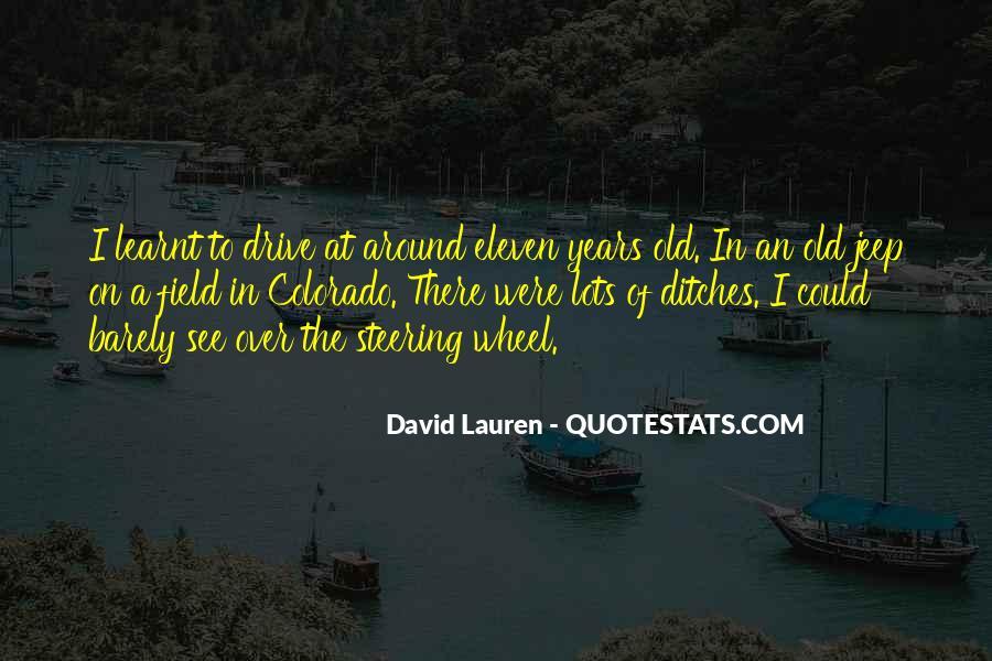David Lauren Quotes #1477967