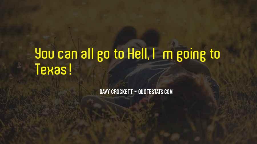 Davy Crockett Quotes #213483