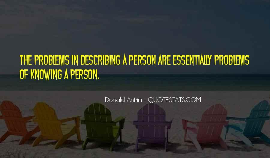 Donald Antrim Quotes #1646425