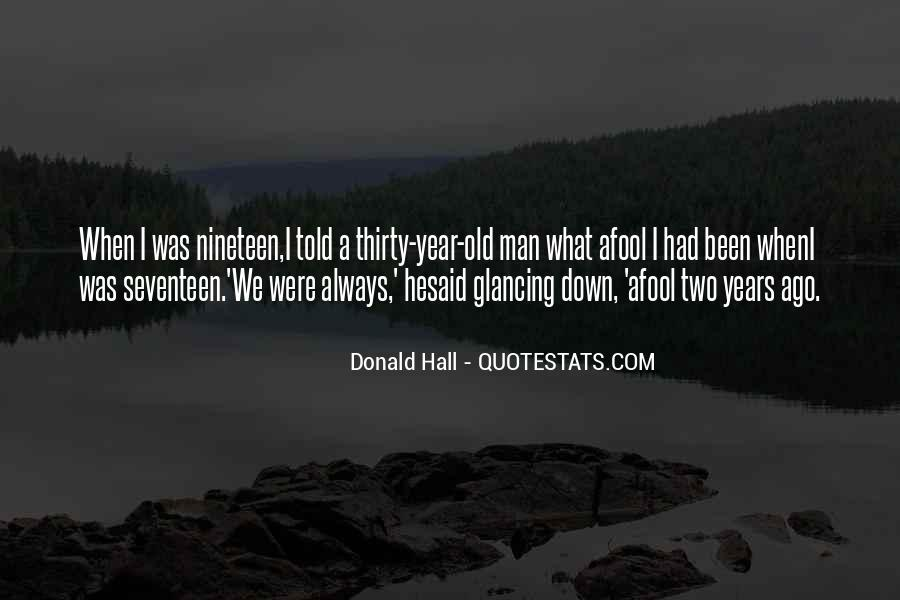 Donald Hall Quotes #160437