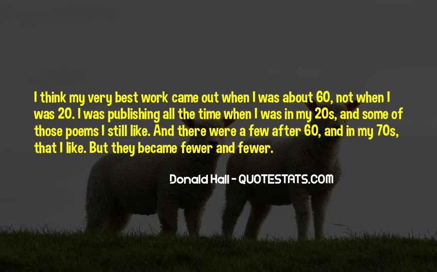 Donald Hall Quotes #647196