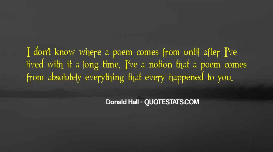 Donald Hall Quotes #66468