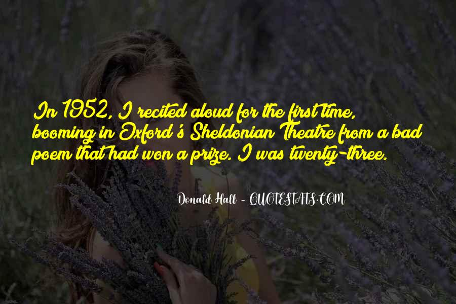 Donald Hall Quotes #876080