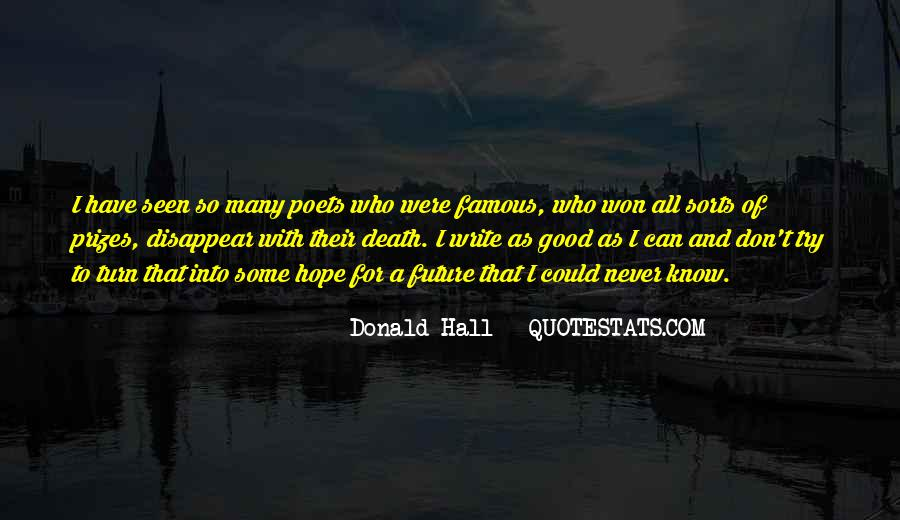 Donald Hall Quotes #900316
