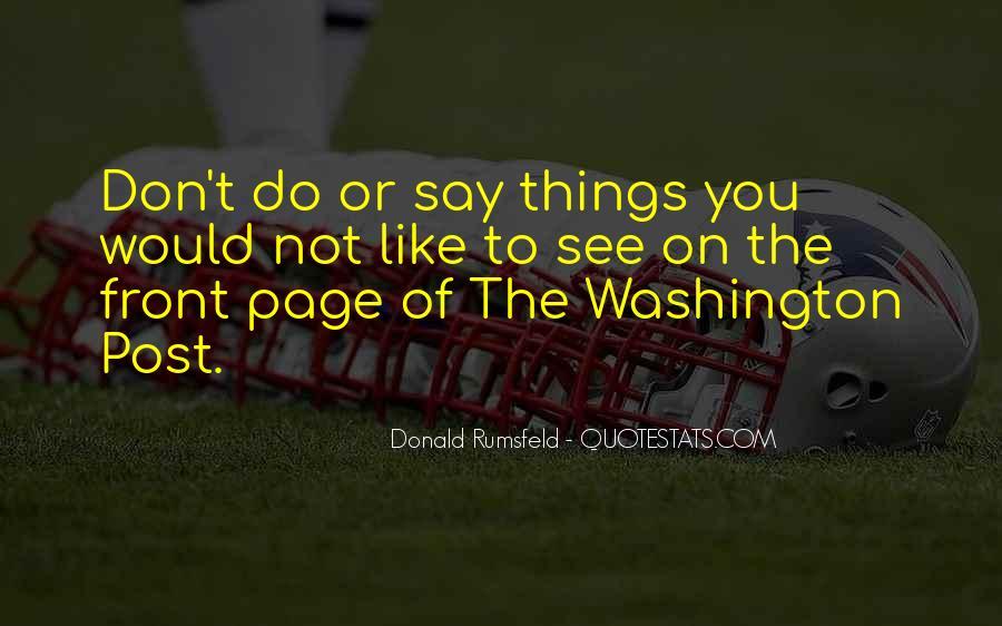 Donald Rumsfeld Quotes #52941