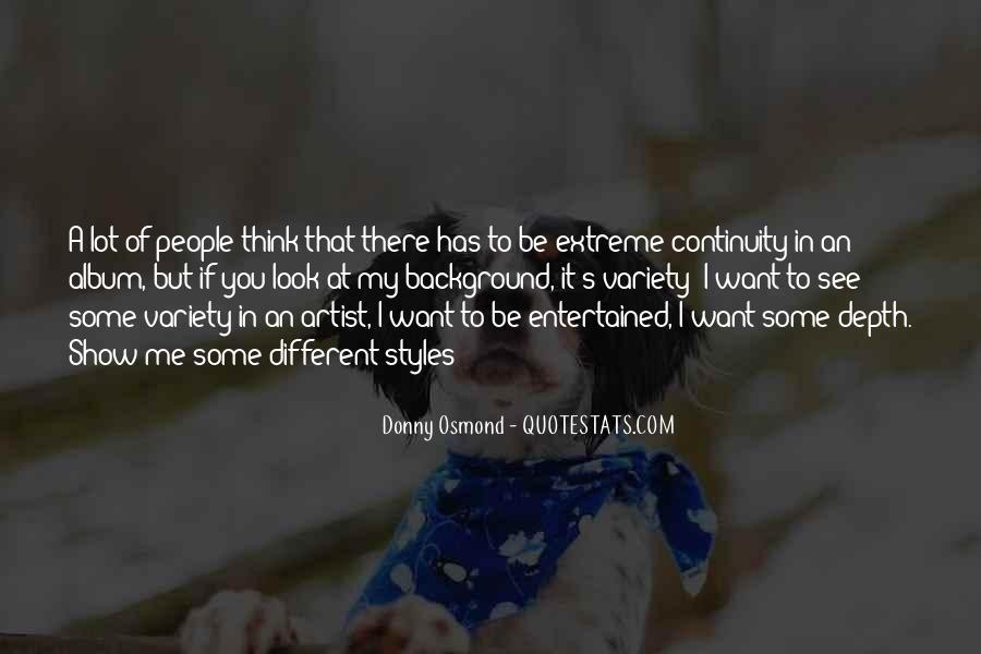 Donny Osmond Quotes #448375