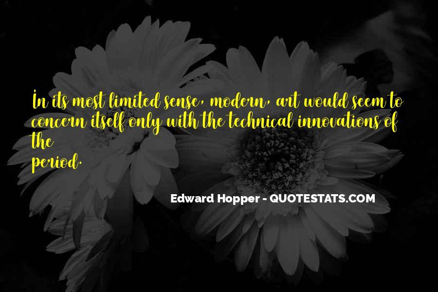 Edward Hopper Quotes #277459
