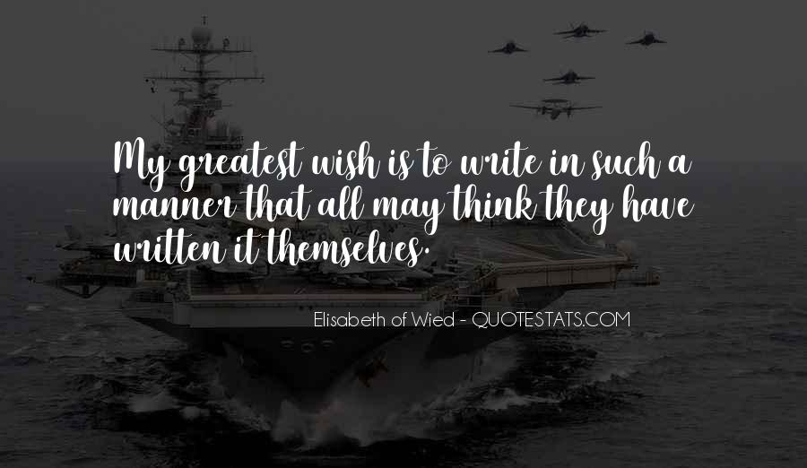 Elisabeth Of Wied Quotes #1689561