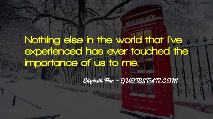 Elizabeth Finn Quotes #120586