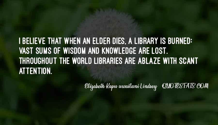 Elizabeth Kapu'uwailani Lindsey Quotes #874977