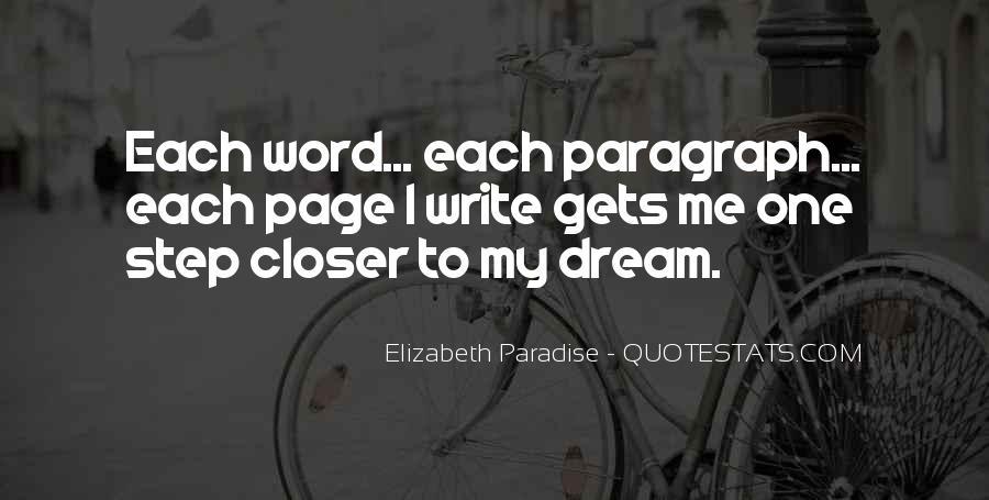 Elizabeth Paradise Quotes #381078