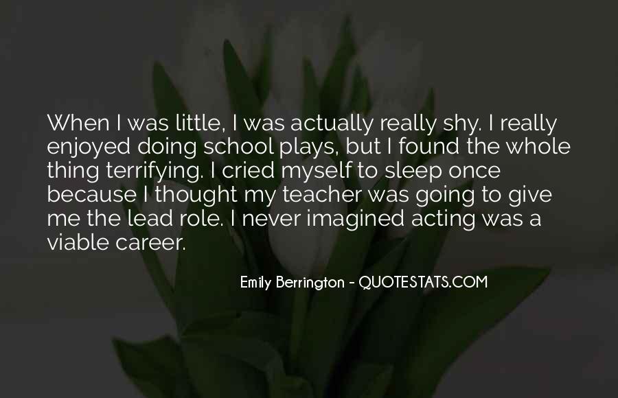 Emily Berrington Quotes #1067565