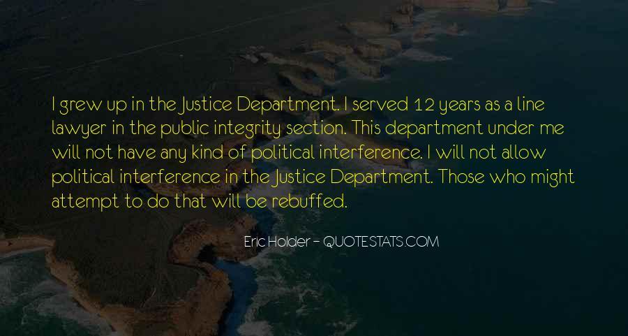 Eric Holder Quotes #1528985