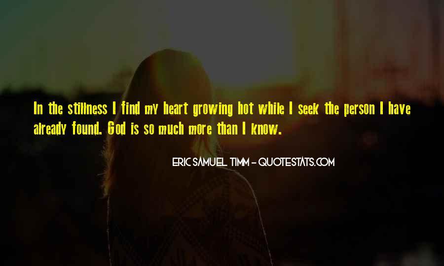 Eric Samuel Timm Quotes #566783