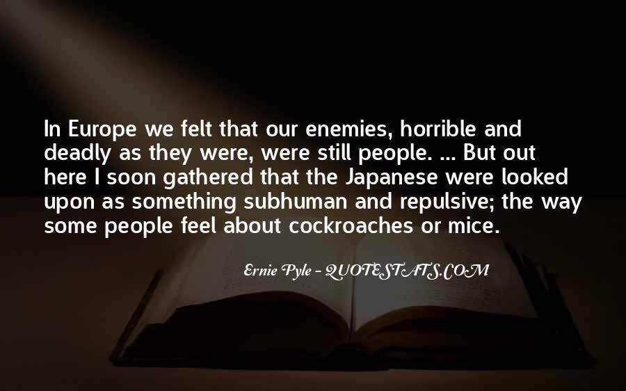 Ernie Pyle Quotes #679629