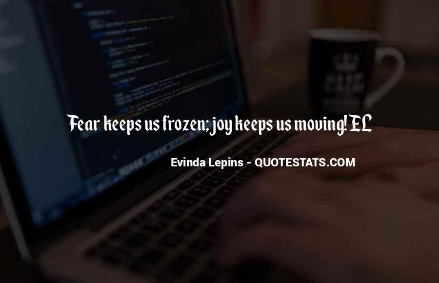 Evinda Lepins Quotes #1650121