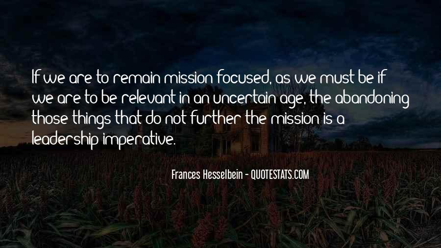 Frances Hesselbein Quotes #1140983