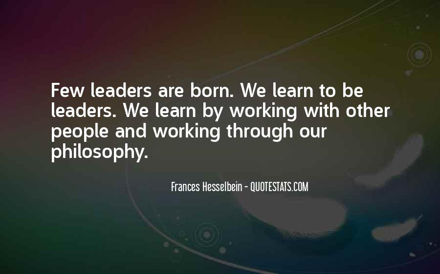 Frances Hesselbein Quotes #1322147