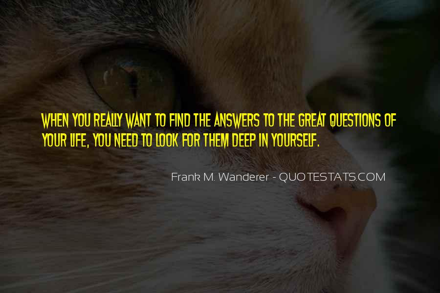 Frank M. Wanderer Quotes #310121