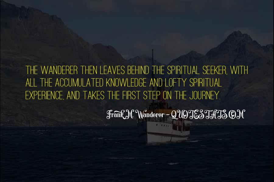 Frank M. Wanderer Quotes #568793