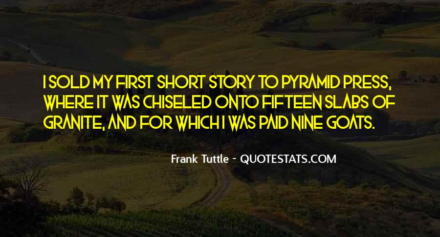 Frank Tuttle Quotes #1755376