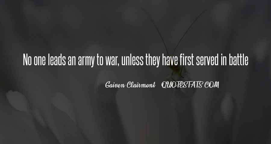 Gaiven Clairmont Quotes #1104593