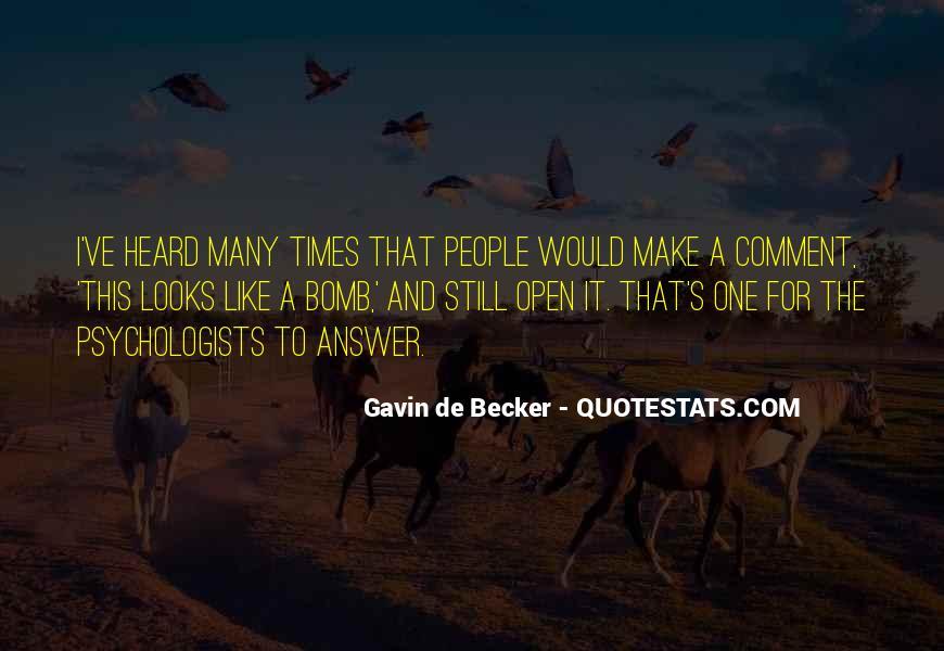 Gavin De Becker Quotes #1031088