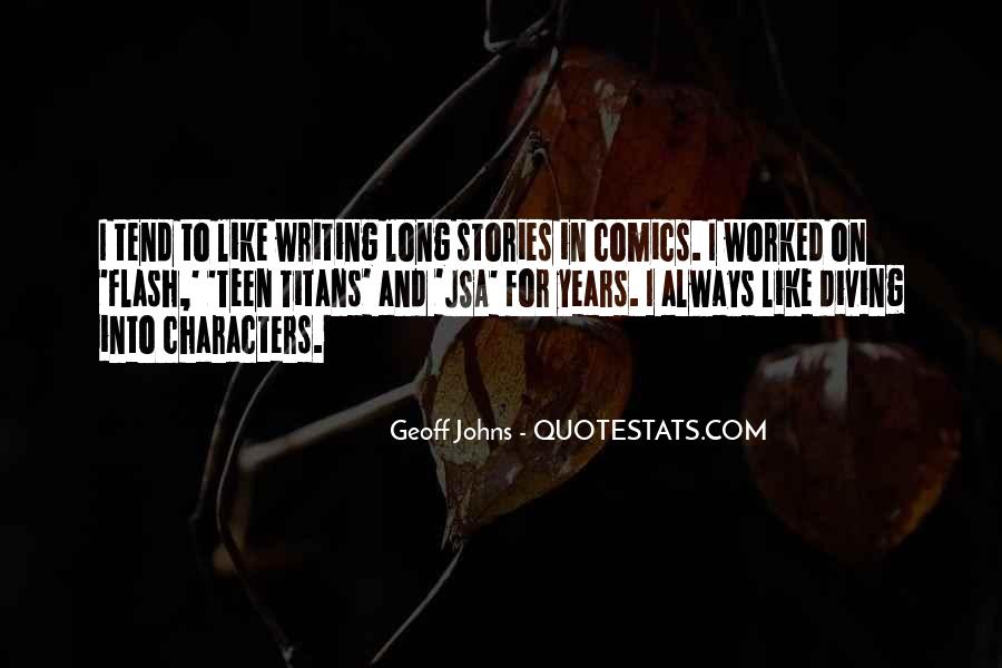 Geoff Johns Quotes #678114