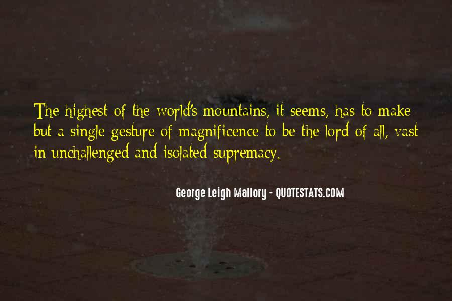 George Leigh Mallory Quotes #1235405