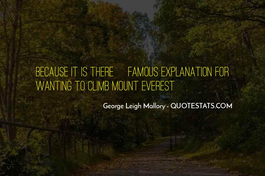 George Leigh Mallory Quotes #1870565