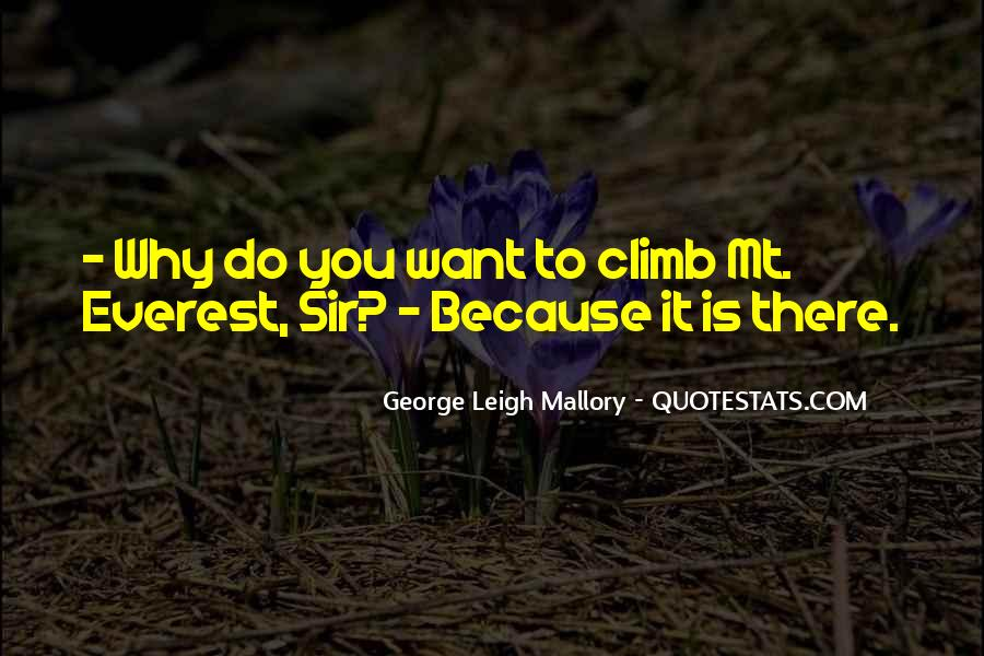 George Leigh Mallory Quotes #40039