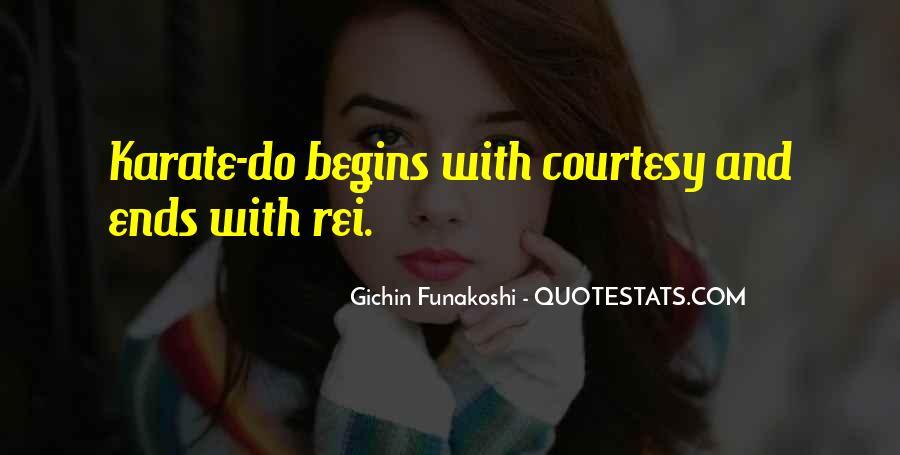 Gichin Funakoshi Quotes #1109997