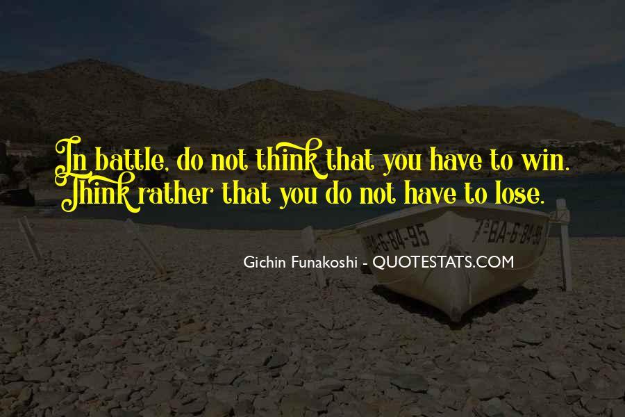 Gichin Funakoshi Quotes #1824285