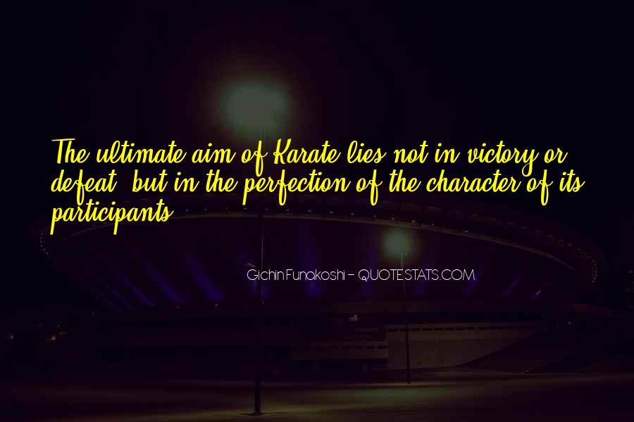 Gichin Funakoshi Quotes #277099