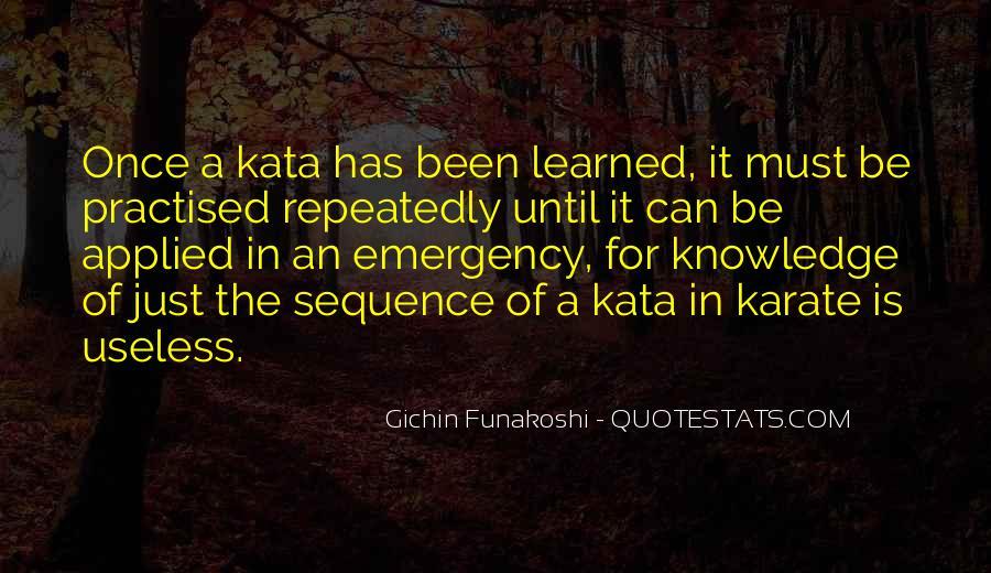 Gichin Funakoshi Quotes #632709