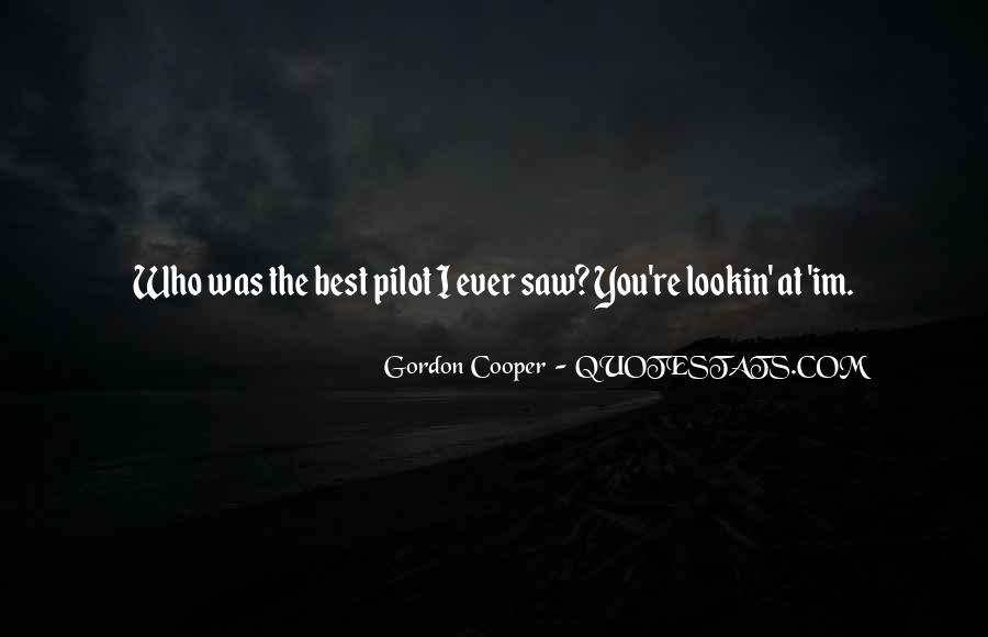 Gordon Cooper Quotes #56446