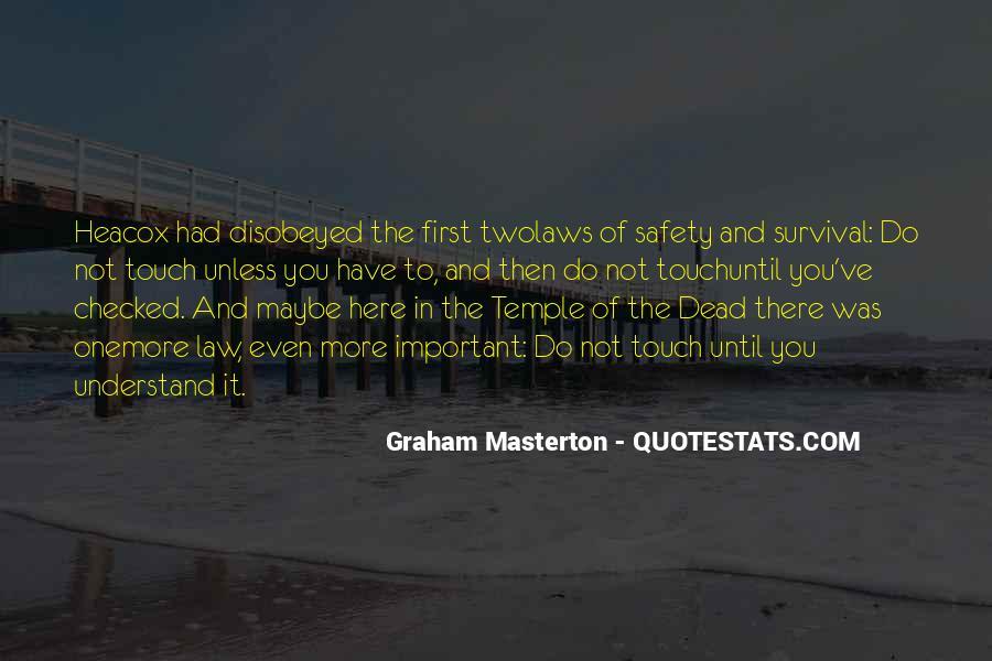 Graham Masterton Quotes #292712