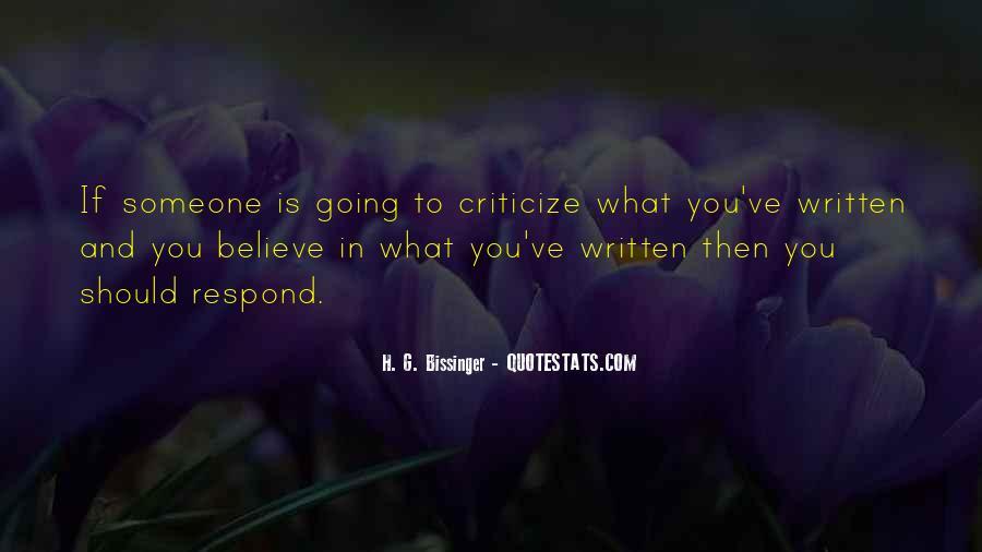 H. G. Bissinger Quotes #1834425