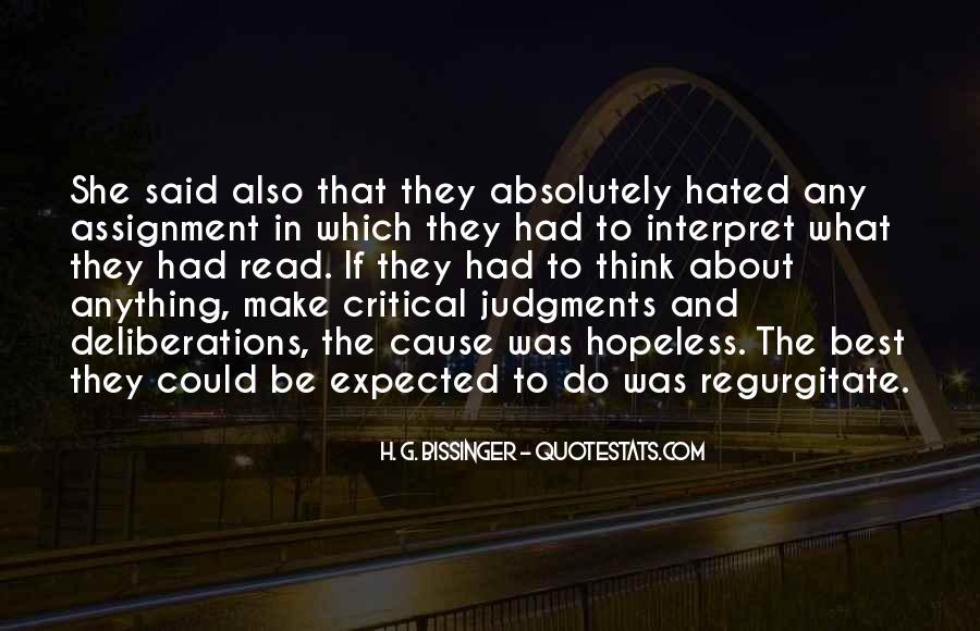 H. G. Bissinger Quotes #708406