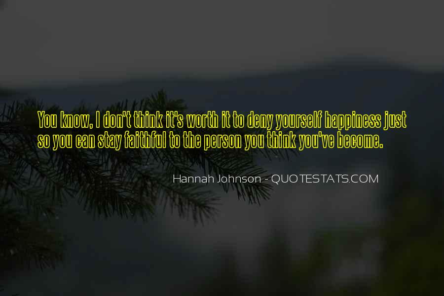 Hannah Johnson Quotes #616942