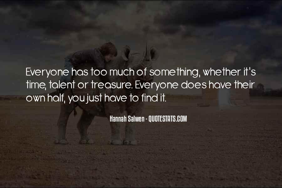 Hannah Salwen Quotes #1682094