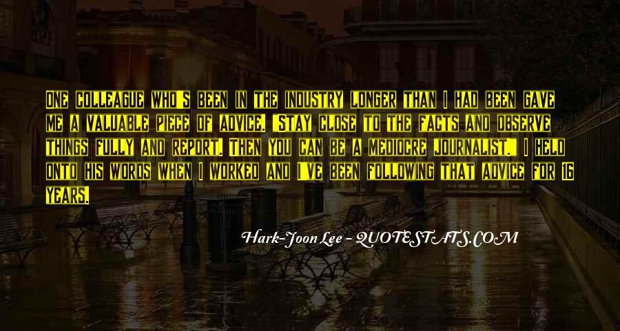 Hark-Joon Lee Quotes #1323526