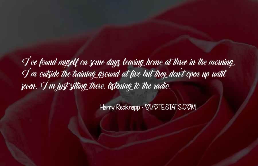 Harry Redknapp Quotes #1799098