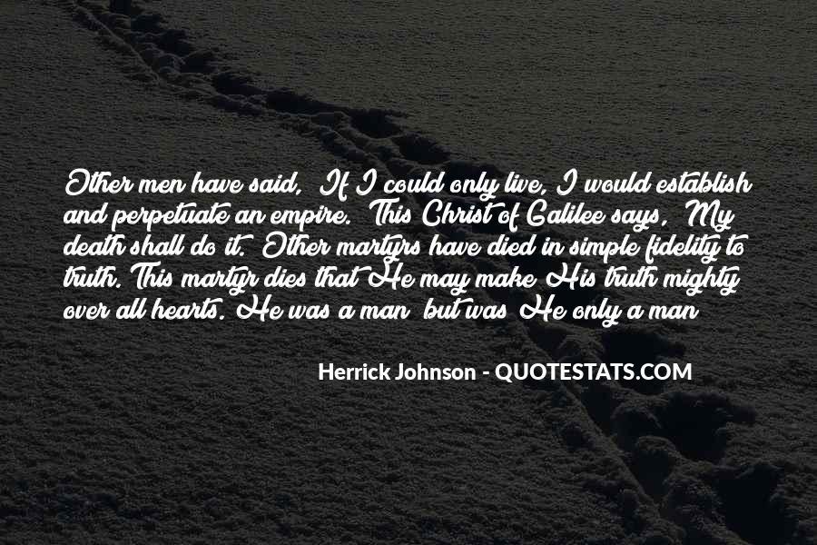 Herrick Johnson Quotes #1782969