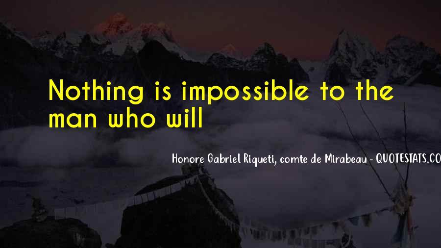 Honore Gabriel Riqueti, Comte De Mirabeau Quotes #1213784