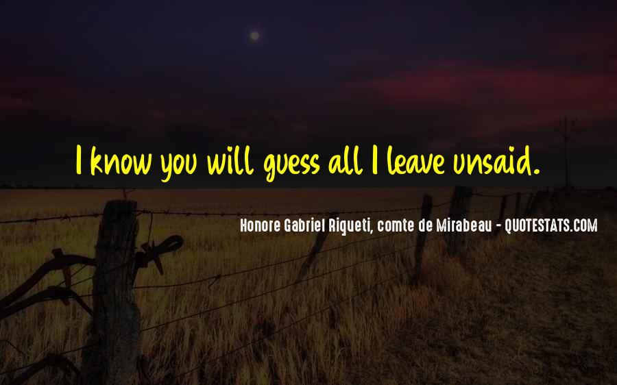 Honore Gabriel Riqueti, Comte De Mirabeau Quotes #1313596