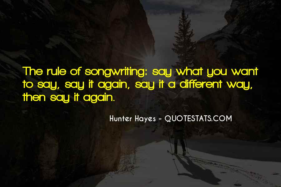 Hunter Hayes Quotes #375840